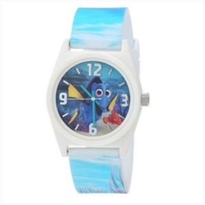 Kids Finding Dory Blue And White Analog Wristwatch